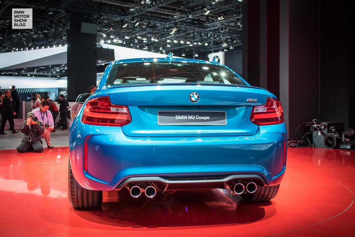 Weltpremiere: Das BMW M2 Coupé live auf der NAIAS Detroit 2016 - Heckansicht - Diffusor