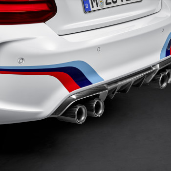 BMW M2 with M Performance Parts - Detail: Back, Diffusor and Pipes