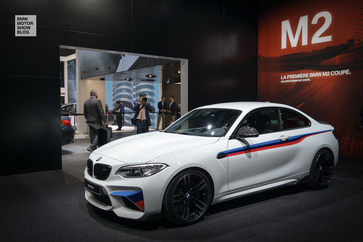 bmw m2 with m performance parts debut at geneva motor. Black Bedroom Furniture Sets. Home Design Ideas