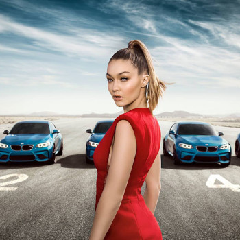 Gigi Hadid and the BMW M2 Coupé F87