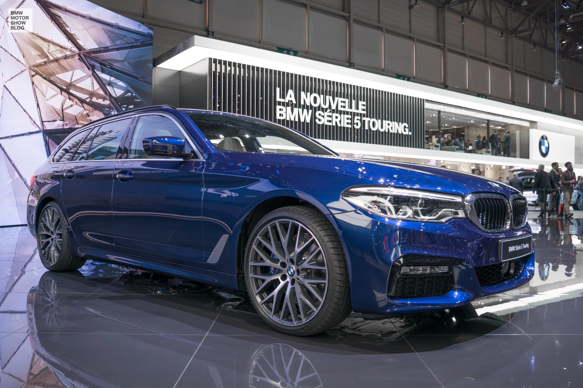 live from geneva first pictures of the bmw 5 series touring