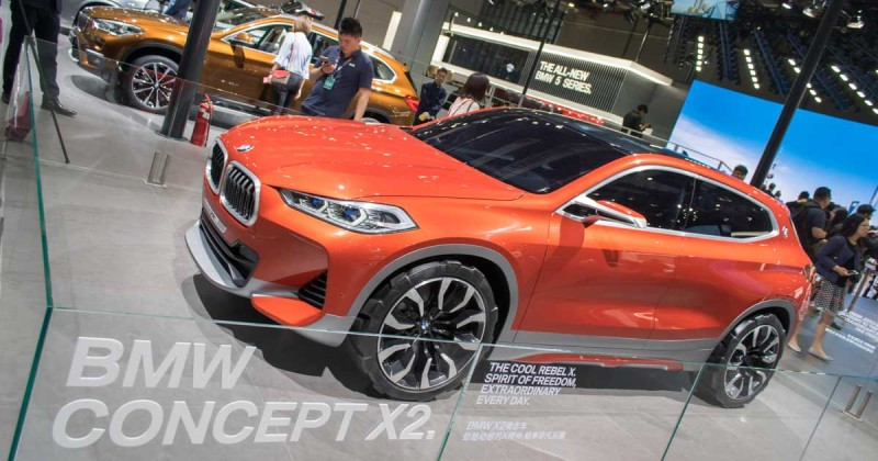 A glance into the future: the BMW Concept X2 in Shanghai