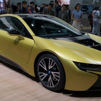 BMW i8 Frozen Yellow Edition - Shanghai Auto, live