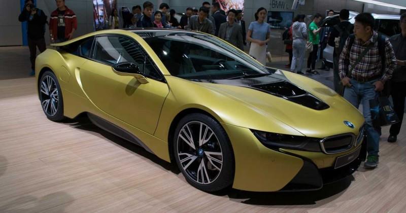 BMW i8 Frozen Yellow Edition – Live-Fotos aus Shanghai