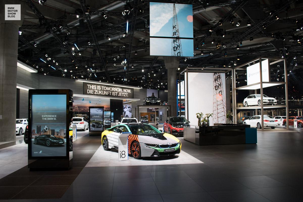 Bmw Messestand Iaa 2017 Bmw I 8 Motor Show Blog
