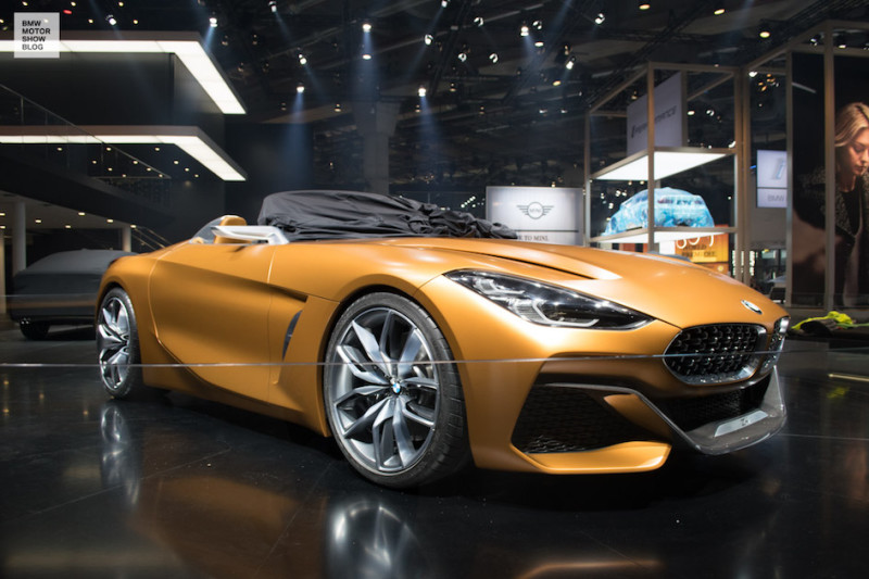 bmw concept z4 live pictures from the iaa 2017. Black Bedroom Furniture Sets. Home Design Ideas