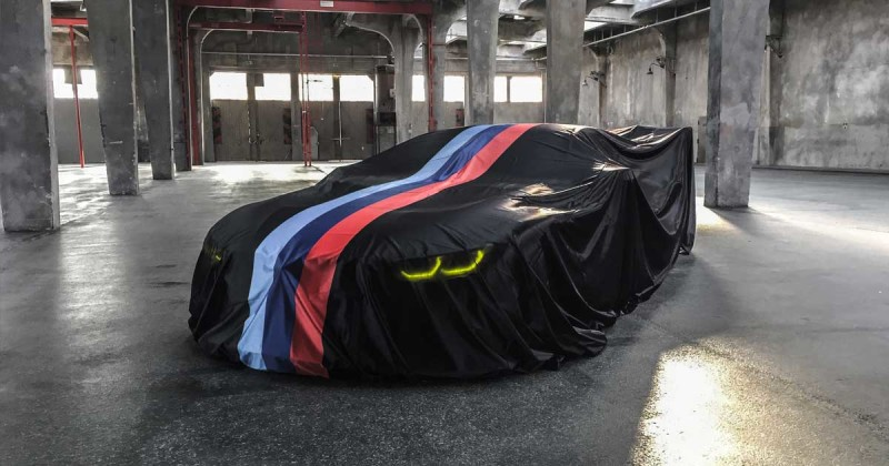 Here's the first shy look at the BMW M8 GTE before unveiling on Tuesday