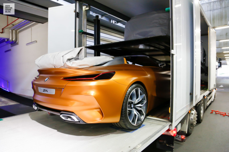 BMW at the IAA Cars - Preview - Loading in Munich - BMW Concept Z4