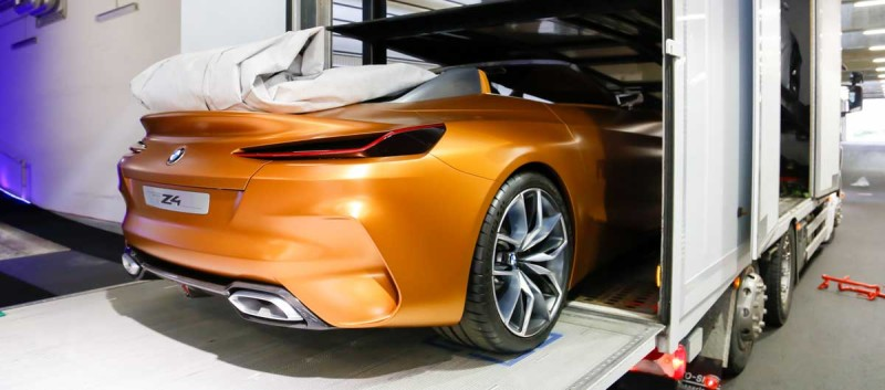 EXCLUSIVE: BMW Concept Cars are loaded for their way to IAA Cars show in Frankfurt