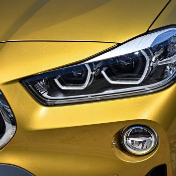 Der erste BMW X2 - Detail: Scheinwerfer