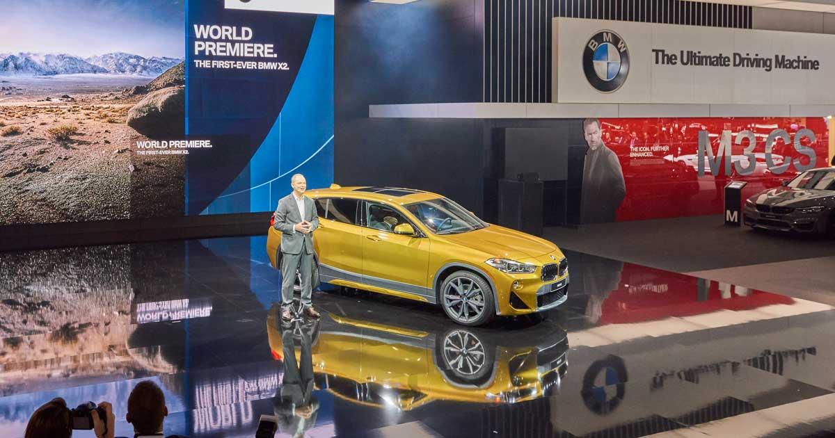 BMW auf der NAIAS 2018 - Pressekonferenz
