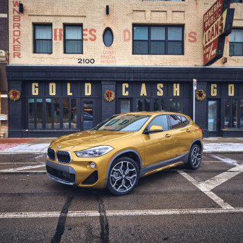 The BMW X2 in Detroit - Gold Cash Gold