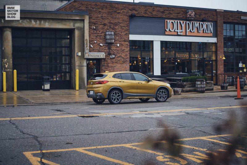 The BMW X2 in Detroit - Jolly Pumpkin