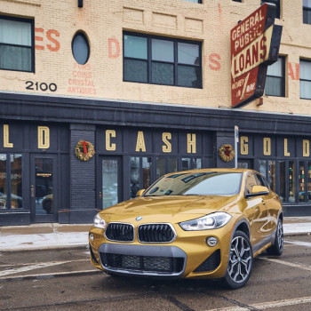 Der BMW X2 - unterwegs in Detroit